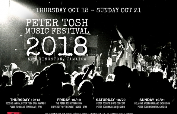 Peter Tosh Music Festival Thurs Oct 18 – Sun Oct 21, 2018
