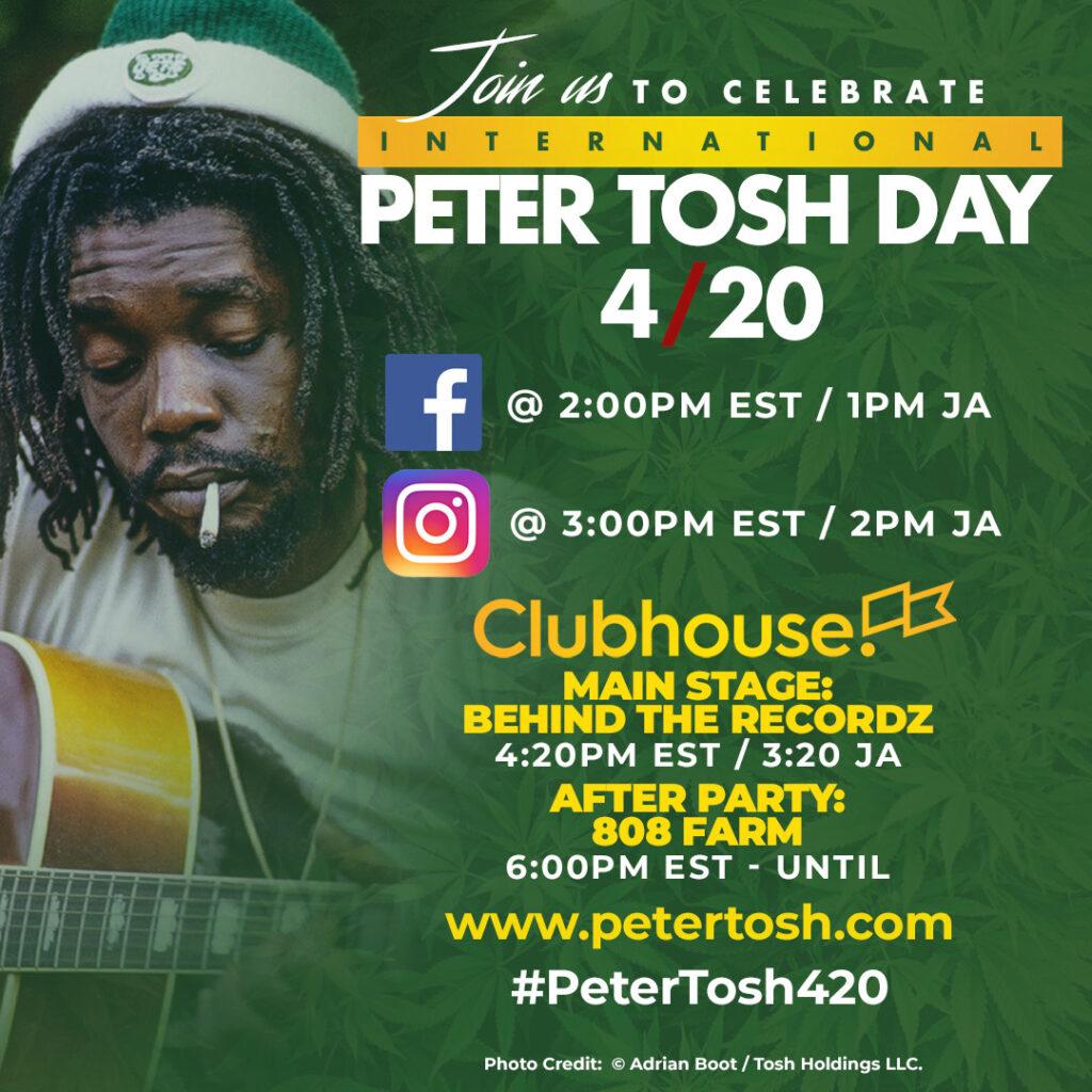 International Peter Tosh Day 4/20